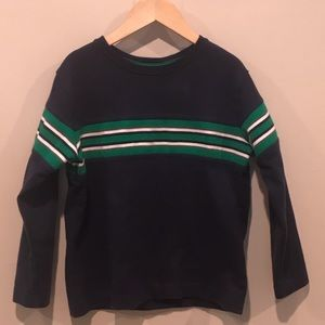 Hanna Andersson Navy Striped Top Size 110